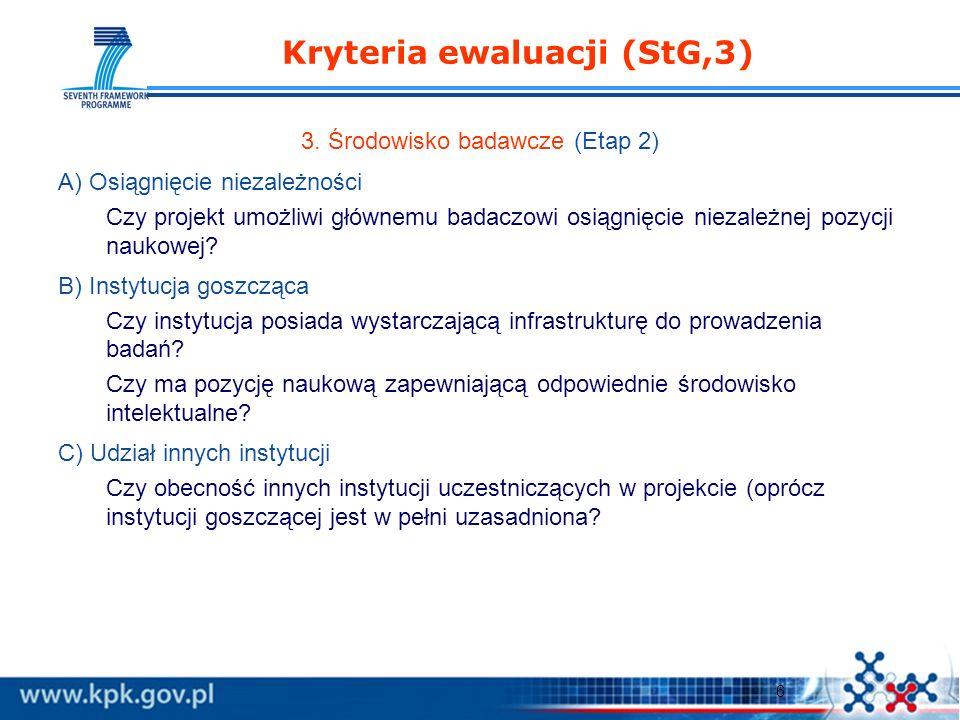 6 Kryteria ewaluacji (StG,3) 3.