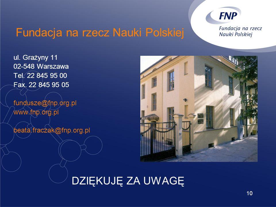 10 ul. Grażyny 11 02-548 Warszawa Tel. 22 845 95 00 Fax.