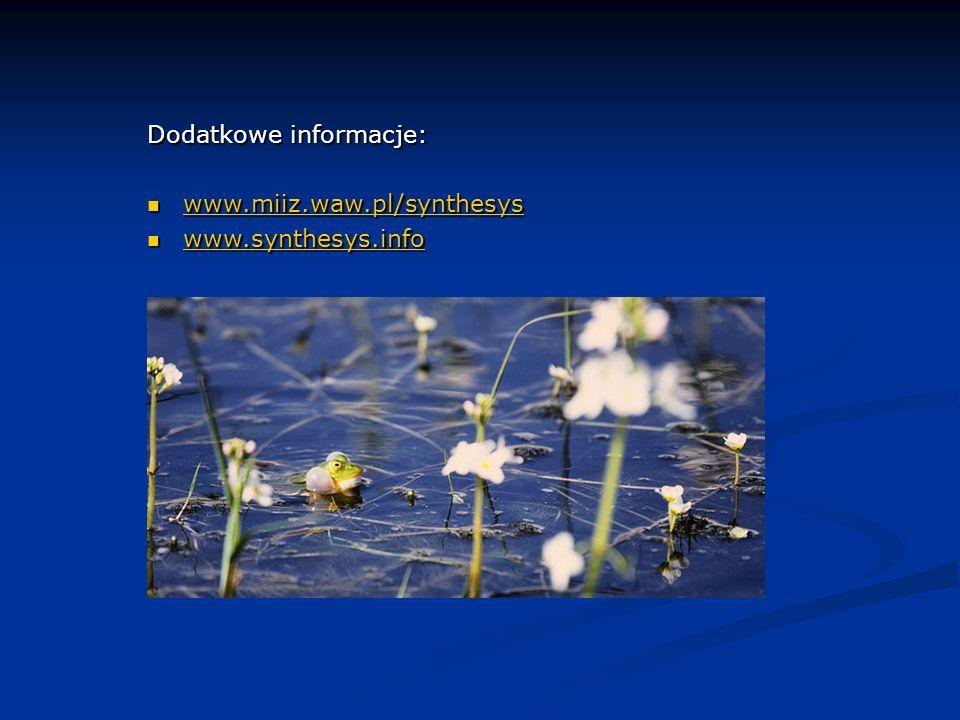 Dodatkowe informacje: www.miiz.waw.pl/synthesys www.miiz.waw.pl/synthesys www.miiz.waw.pl/synthesys www.synthesys.info www.synthesys.info www.synthesys.info