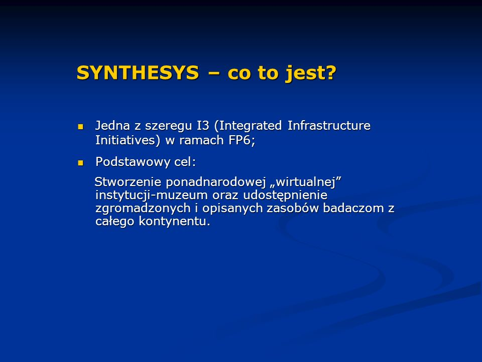 SYNTHESYS – co to jest.cd.