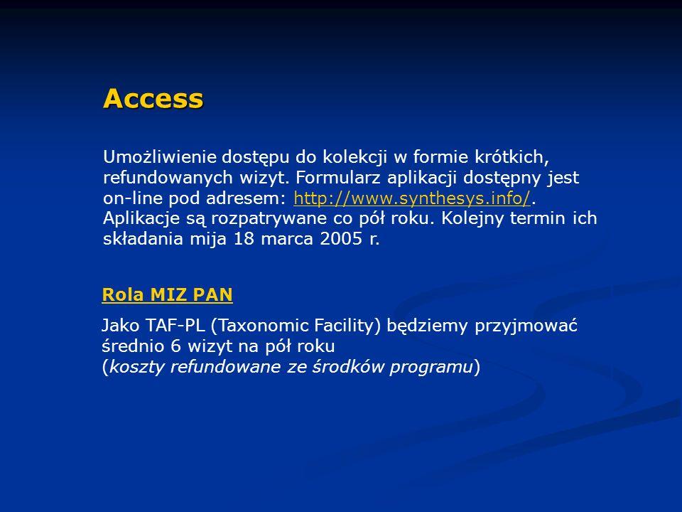 Access Umożliwienie dostępu do kolekcji w formie krótkich, refundowanych wizyt.