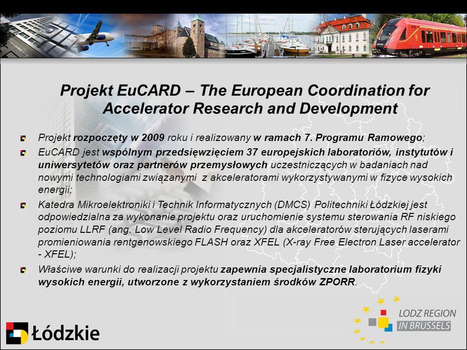 Projekt EuCARD – The European Coordination for Accelerator Research and Development Projekt rozpoczęty w 2009 roku i realizowany w ramach 7. Programu