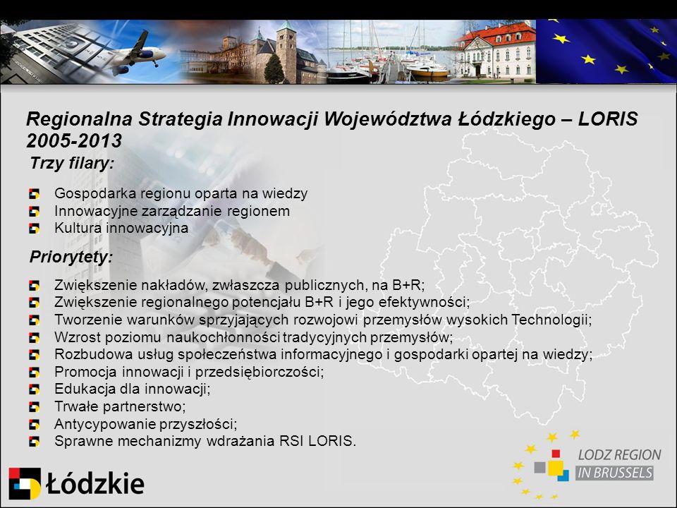 Trzy filary: Gospodarka regionu oparta na wiedzy Innowacyjne zarządzanie regionem Kultura innowacyjna Priorytety: Zwiększenie nakładów, zwłaszcza publ