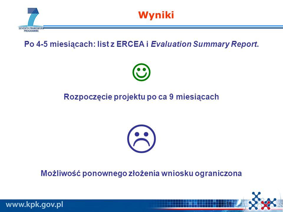 17 Dodatkowe informacje Poradnik O czym pamiętać pisząc wniosek : http://www.kpk.gov.pl/7pr/struktura/2.html 2007 ERC Report http://erc.europa.eu/pdf/ERC_Annual_Report.pdf Raporty po konkursach StG i AdG http://www.kpk.gov.pl/7pr/struktura/2.html Streszczenia projektów http://cordis.europa.eu/fp7/projects_en.html Zapraszamy na indywidualne konsultacje: KPK, ul.