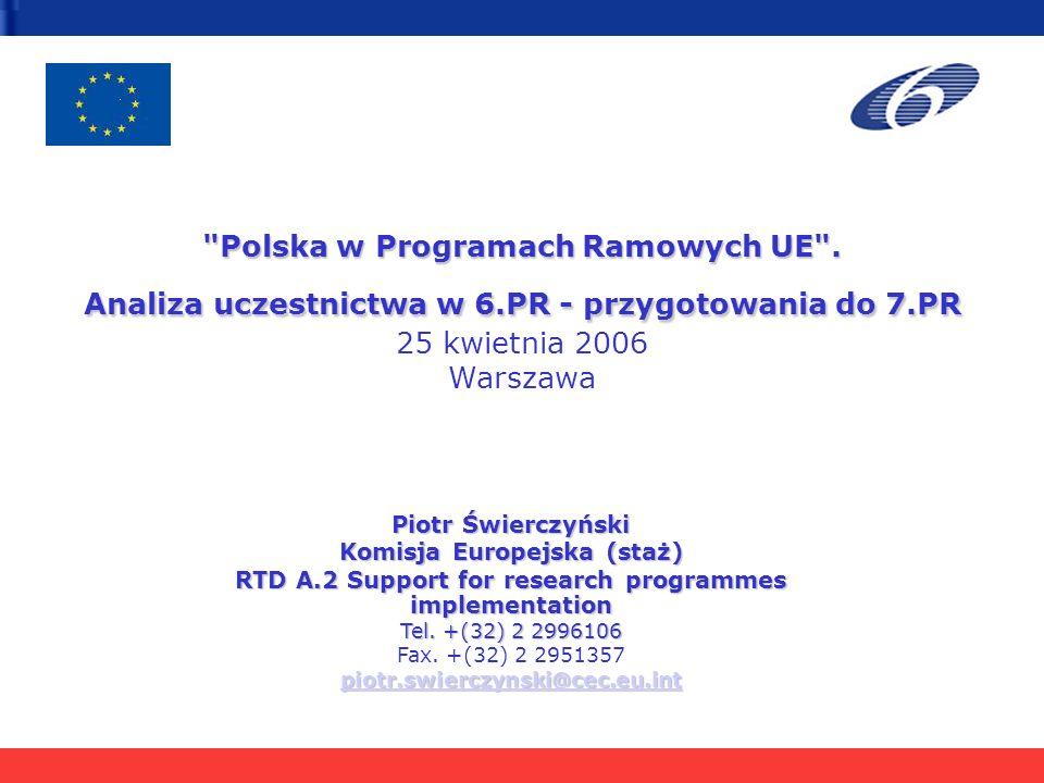 Polska w Programach Ramowych UE .