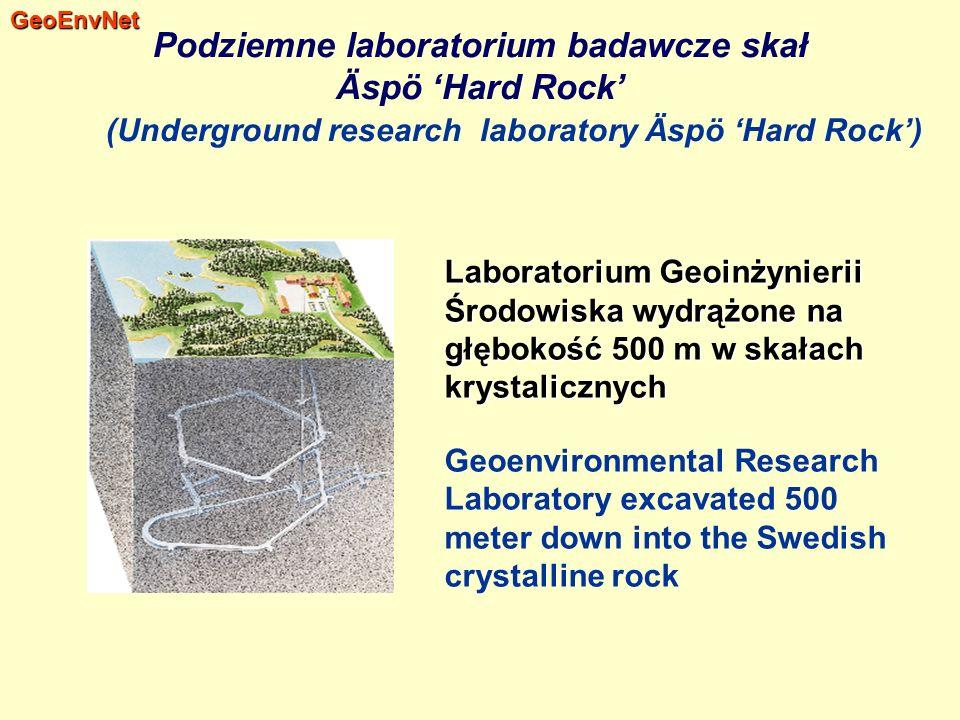Laboratorium Geoinżynierii Środowiska wydrążone na głębokość 500 m w skałach krystalicznych Geoenvironmental Research Laboratory excavated 500 meter d