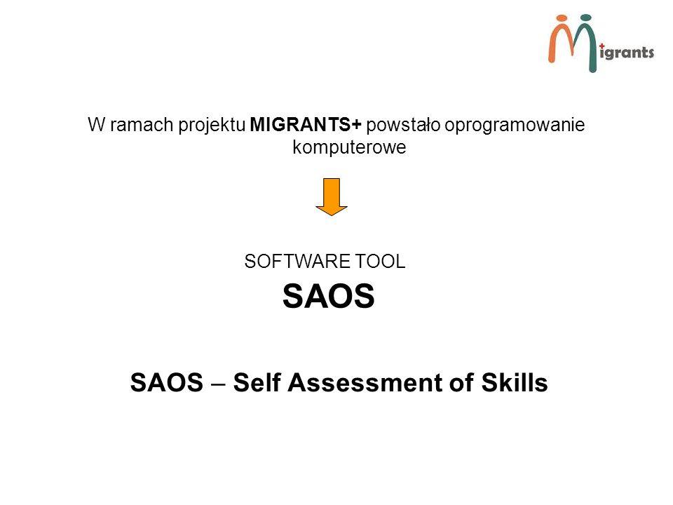 W ramach projektu MIGRANTS+ powstało oprogramowanie komputerowe SOFTWARE TOOL SAOS SAOS – Self Assessment of Skills