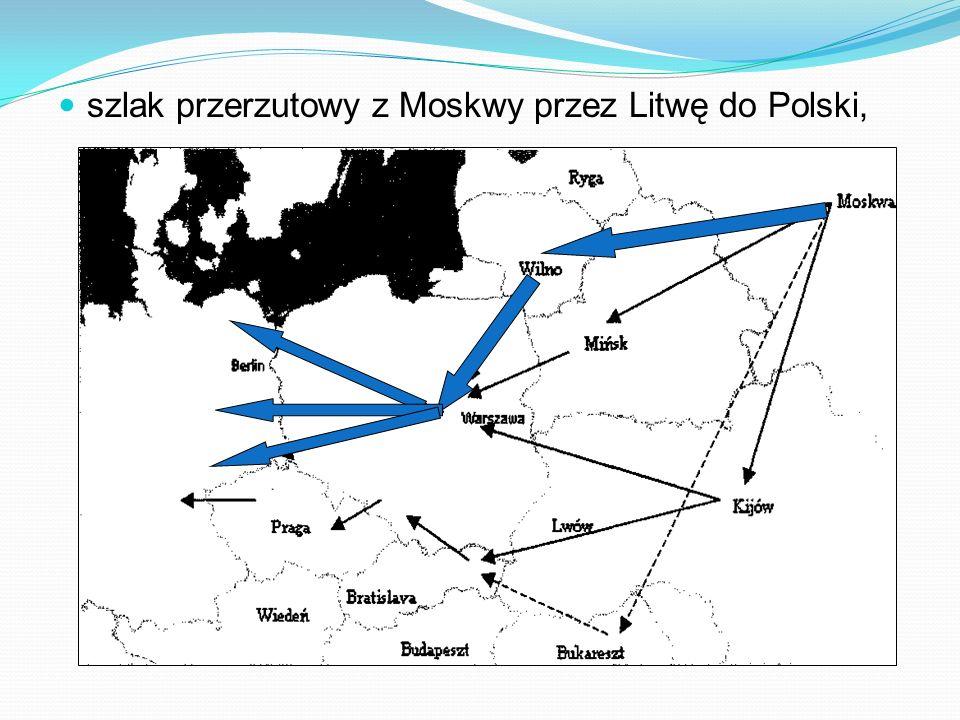 szlak przerzutowy z Moskwy przez Litwę do Polski,