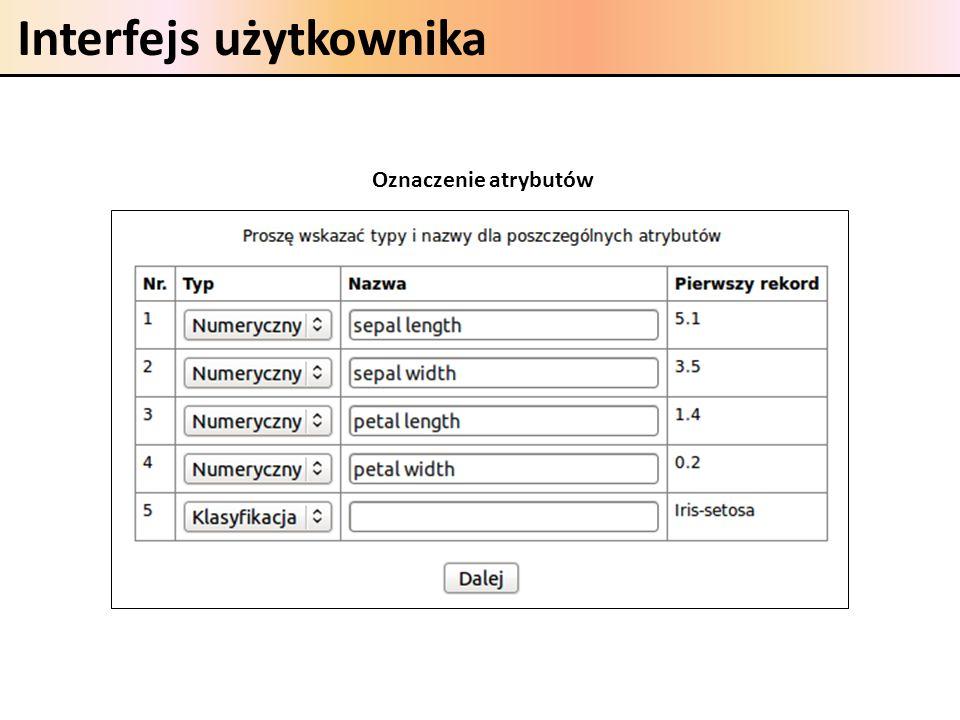 Interfejs użytkownika Oznaczenie atrybutów