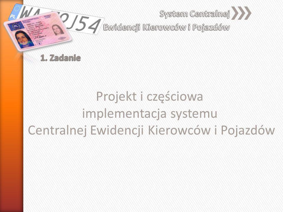Projekt i częściowa implementacja systemu Centralnej Ewidencji Kierowców i Pojazdów