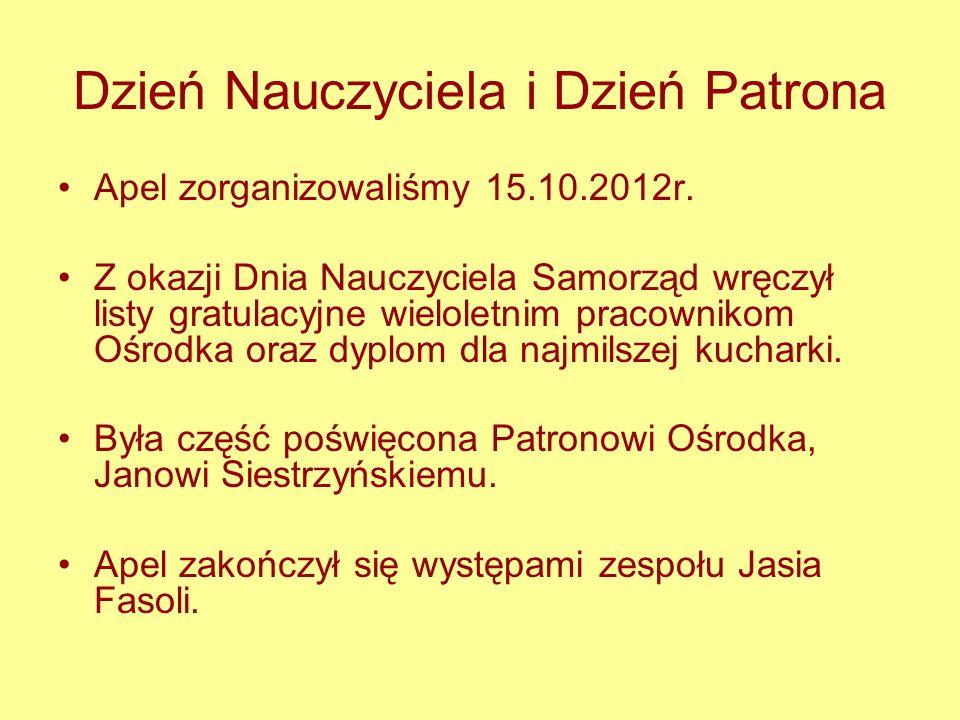 Zorganizowaliśmy Otrzęsiny klas I oraz Mikołajki. Pomagaliśmy przy organizacji Wigilii i Andrzejek.
