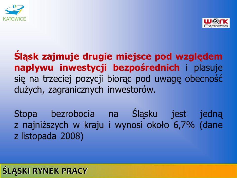 Śląsk zajmuje drugie miejsce pod względem napływu inwestycji bezpośrednich i plasuje się na trzeciej pozycji biorąc pod uwagę obecność dużych, zagrani