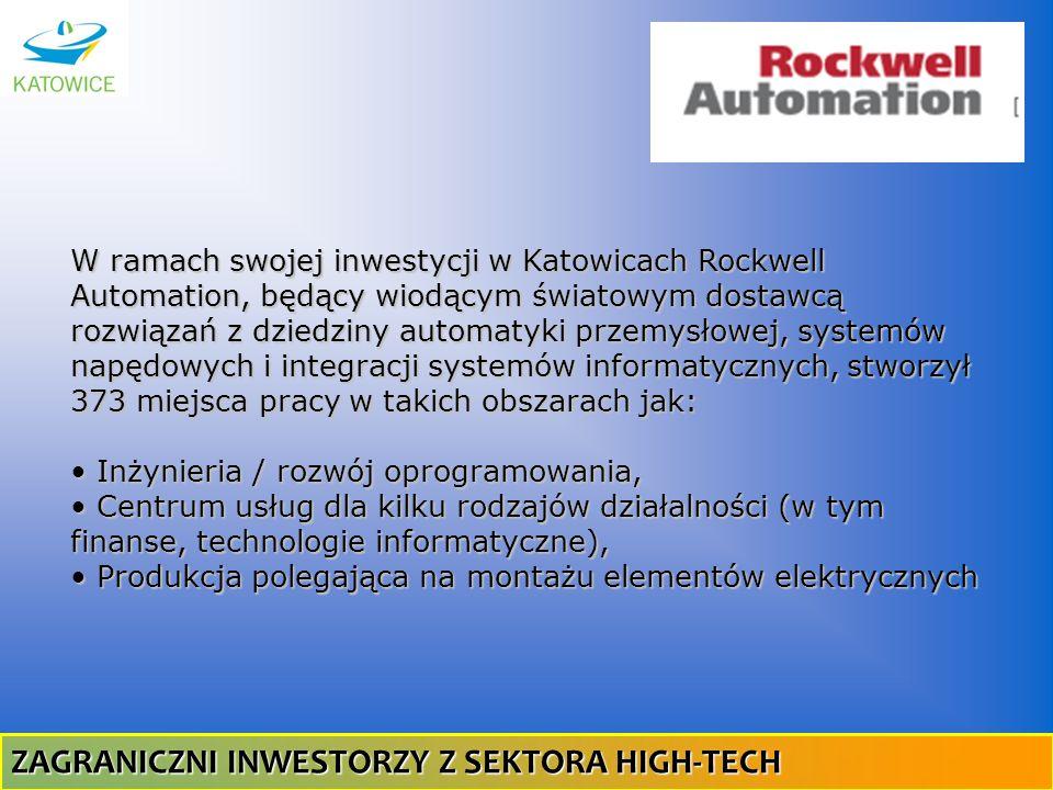 W ramach swojej inwestycji w Katowicach Rockwell Automation, będący wiodącym światowym dostawcą rozwiązań z dziedziny automatyki przemysłowej, systemó