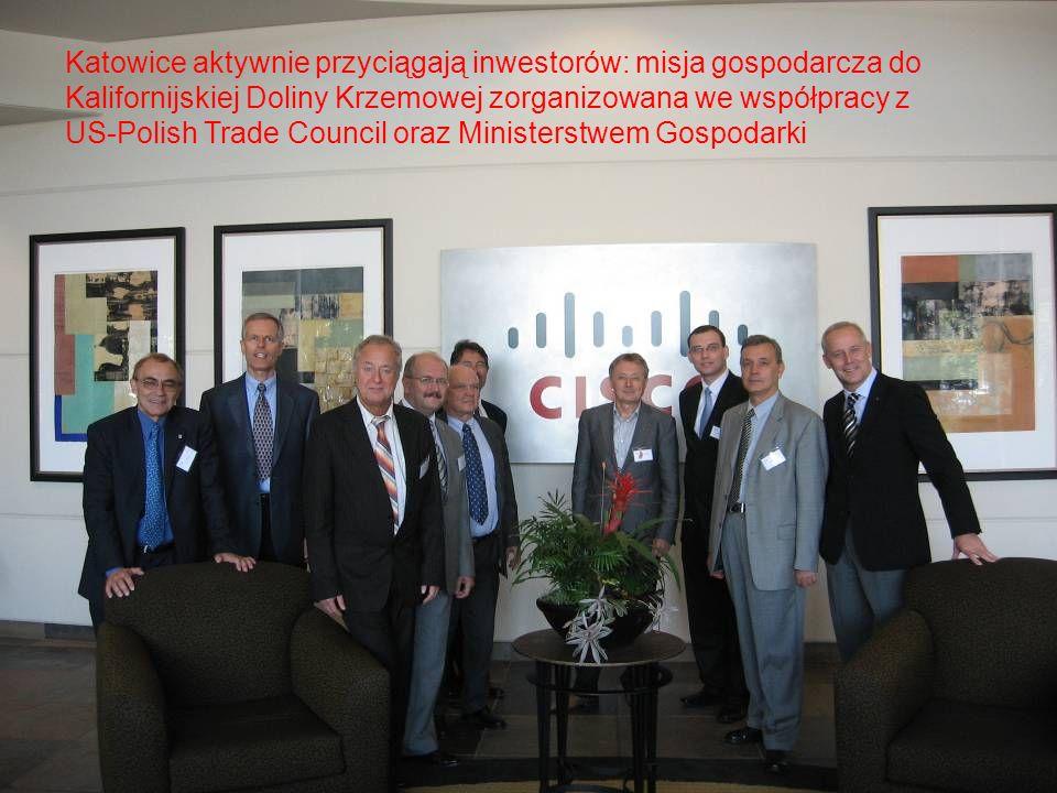 Katowice aktywnie przyciągają inwestorów: misja gospodarcza do Kalifornijskiej Doliny Krzemowej zorganizowana we współpracy z US-Polish Trade Council