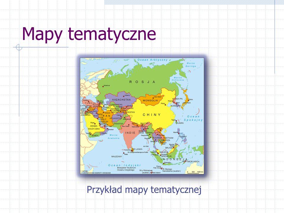 Mapy tematyczne Przykład mapy tematycznej