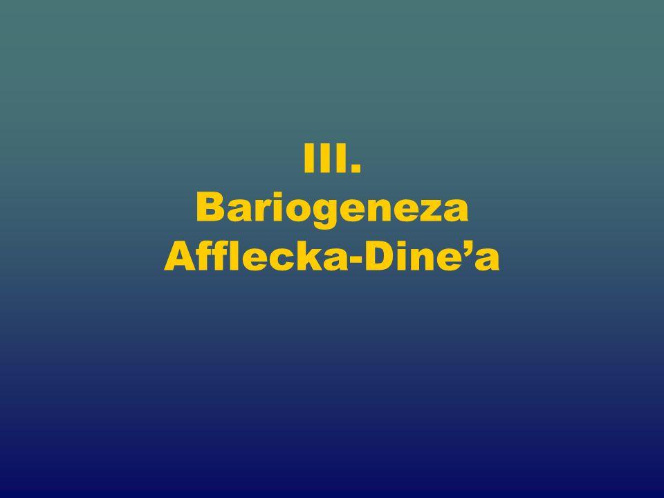 III. Bariogeneza Afflecka-Dinea