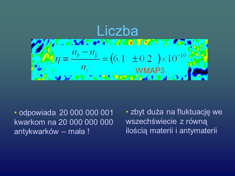 Liczba odpowiada 20 000 000 001 kwarkom na 20 000 000 000 antykwarków – mała .