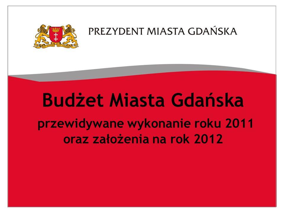 Budżet Miasta Gdańska przewidywane wykonanie roku 2011 oraz założenia na rok 2012
