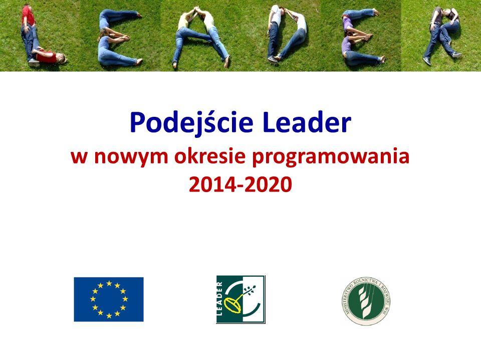 Podejście Leader w nowym okresie programowania 2014-2020