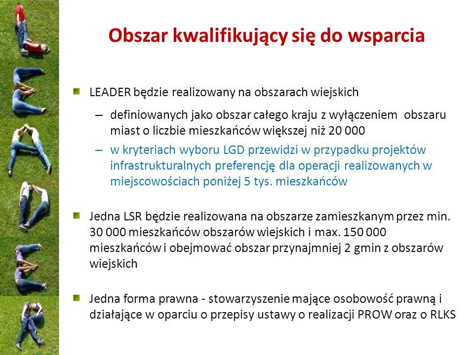 Koszty bieżące i aktywizacja Beneficjenci LGD, których LSR zostały wybrane do realizacji i finansowania ze środków Programu Możliwość uzyskania wsparcia zapewniona jest dla wszystkich LGD wybranych do realizacji LSR Rodzaj wsparcia W zależności od rodzaju kosztów oraz decyzji LGD może przyjąć formę: zwrotu kosztów kwalifikowalnych, płatności ryczałtowych lub finansowania ryczałtowego określonego przez zastosowanie wartości procentowej do jednej lub kilku kategorii kosztów.