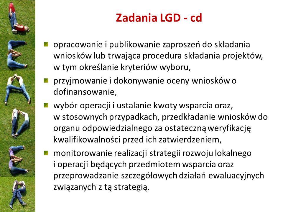 Maksymalna kwota pomocy dla danego rodzaju operacji będzie ustalona przez LGD do 2 mln zł /beneficjenta - infrastruktura techniczna do 500 tys.