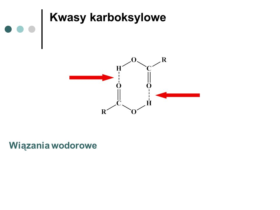 Kwasy karboksylowe Wiązania wodorowe