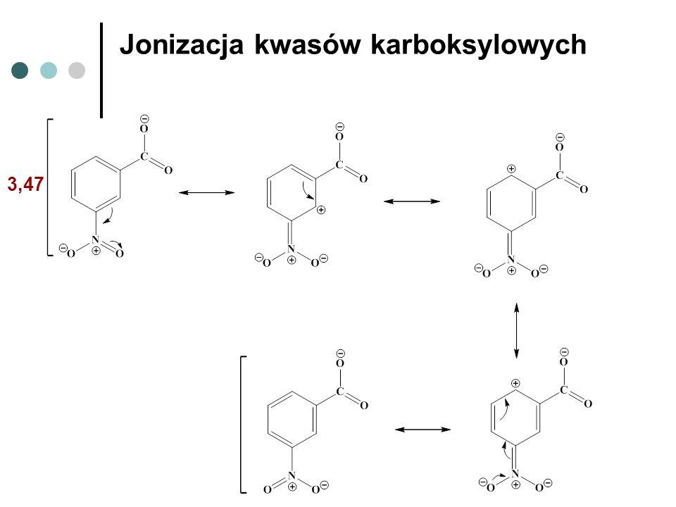 3,47 Jonizacja kwasów karboksylowych