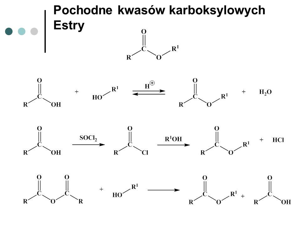Pochodne kwasów karboksylowych Estry