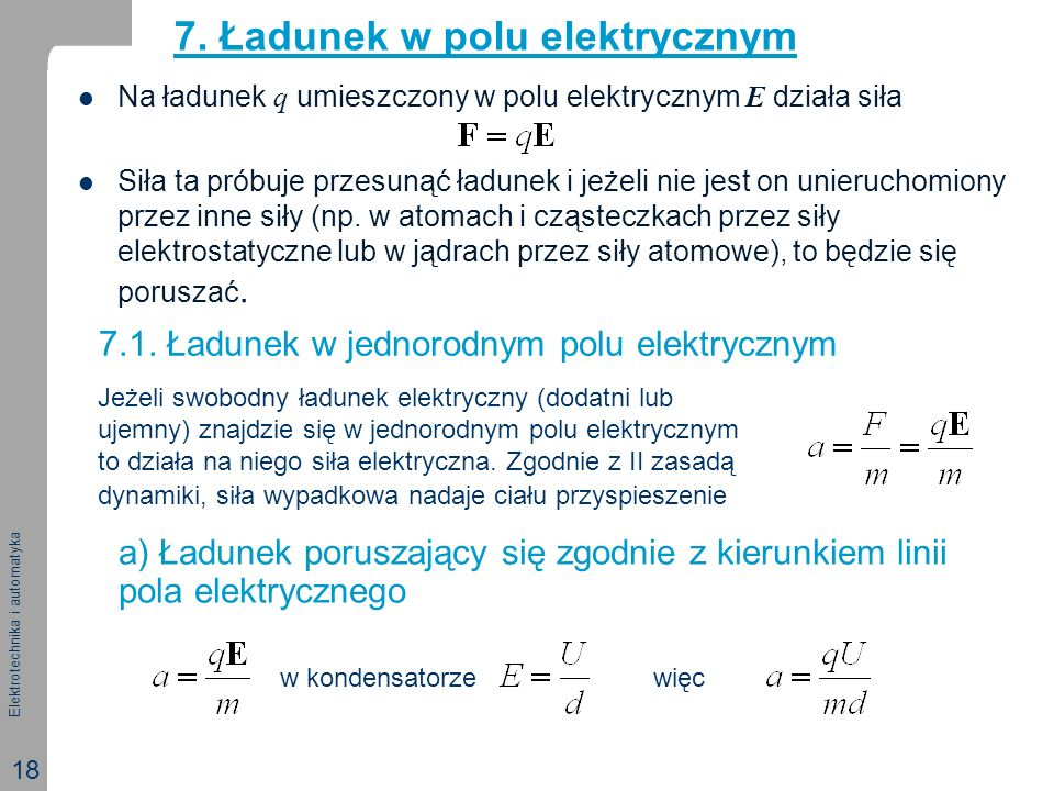 Elektrotechnika i automatyka 18 7.