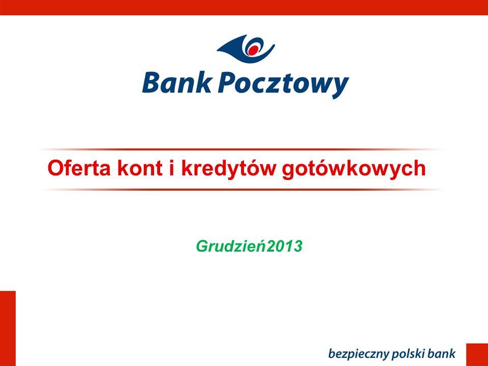 Oferta kont i kredytów gotówkowych Grudzień2013