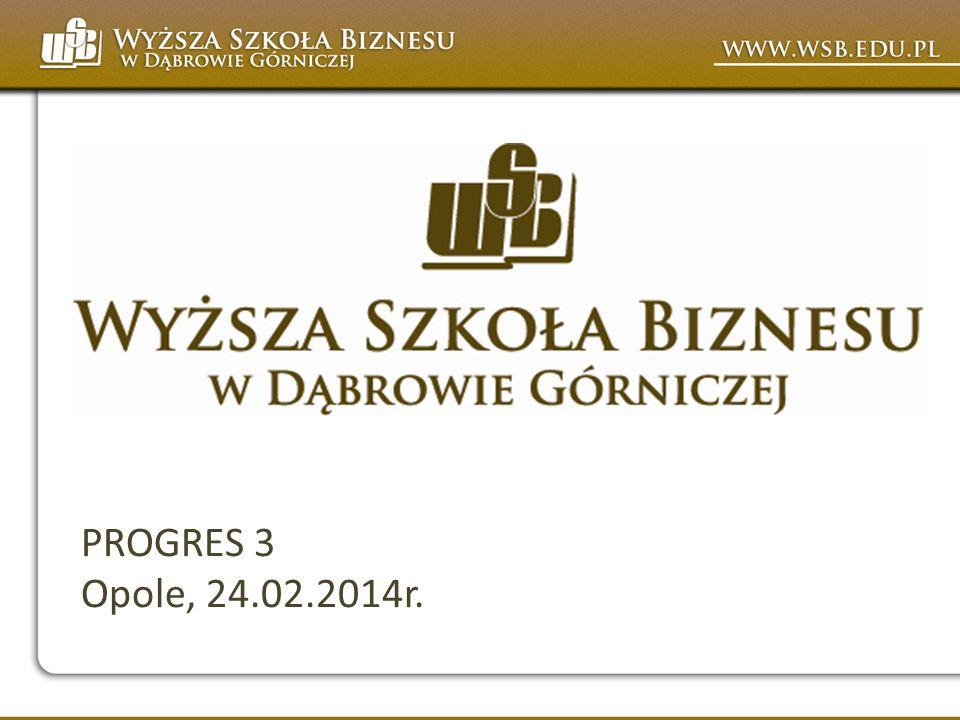 PROGRES 3 Opole, 24.02.2014r.
