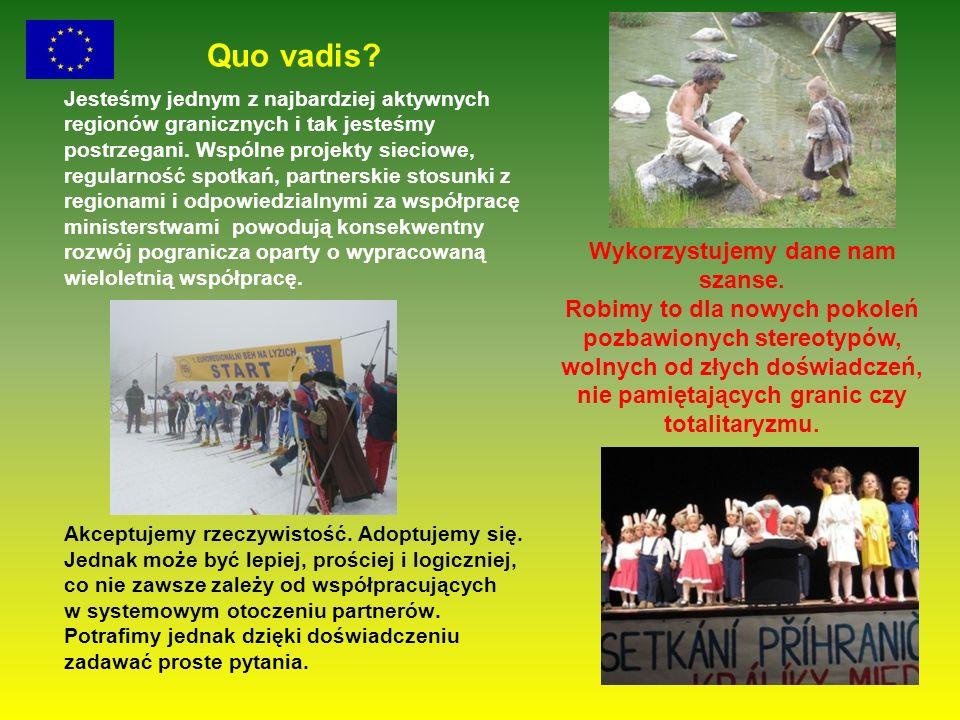 Quo vadis? Jesteśmy jednym z najbardziej aktywnych regionów granicznych i tak jesteśmy postrzegani. Wspólne projekty sieciowe, regularność spotkań, pa