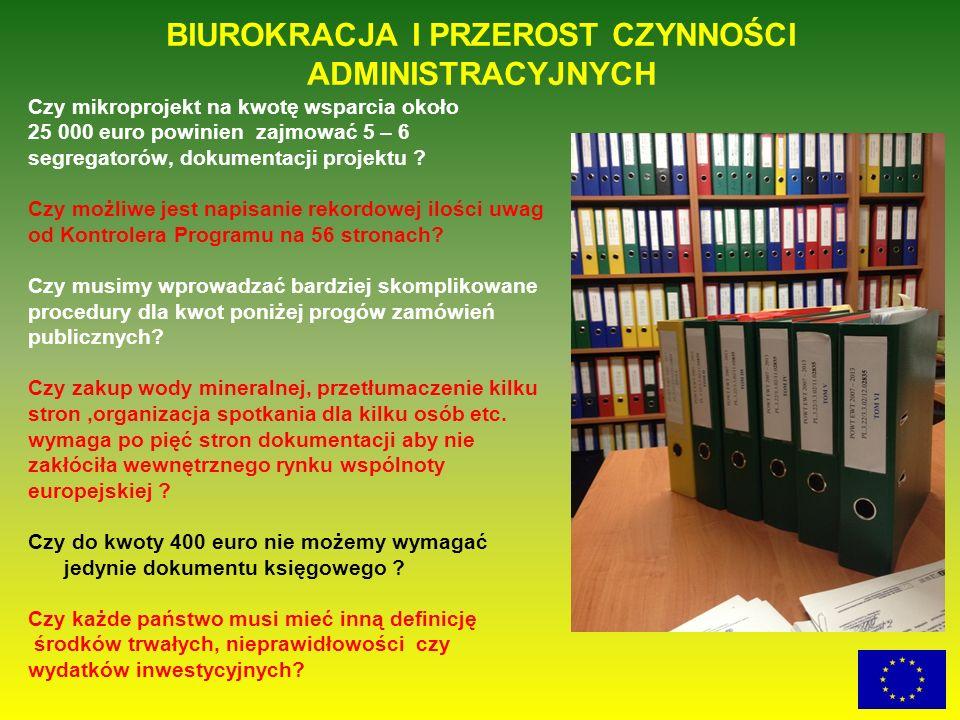Czy mikroprojekt na kwotę wsparcia około 25 000 euro powinien zajmować 5 – 6 segregatorów, dokumentacji projektu ? Czy możliwe jest napisanie rekordow