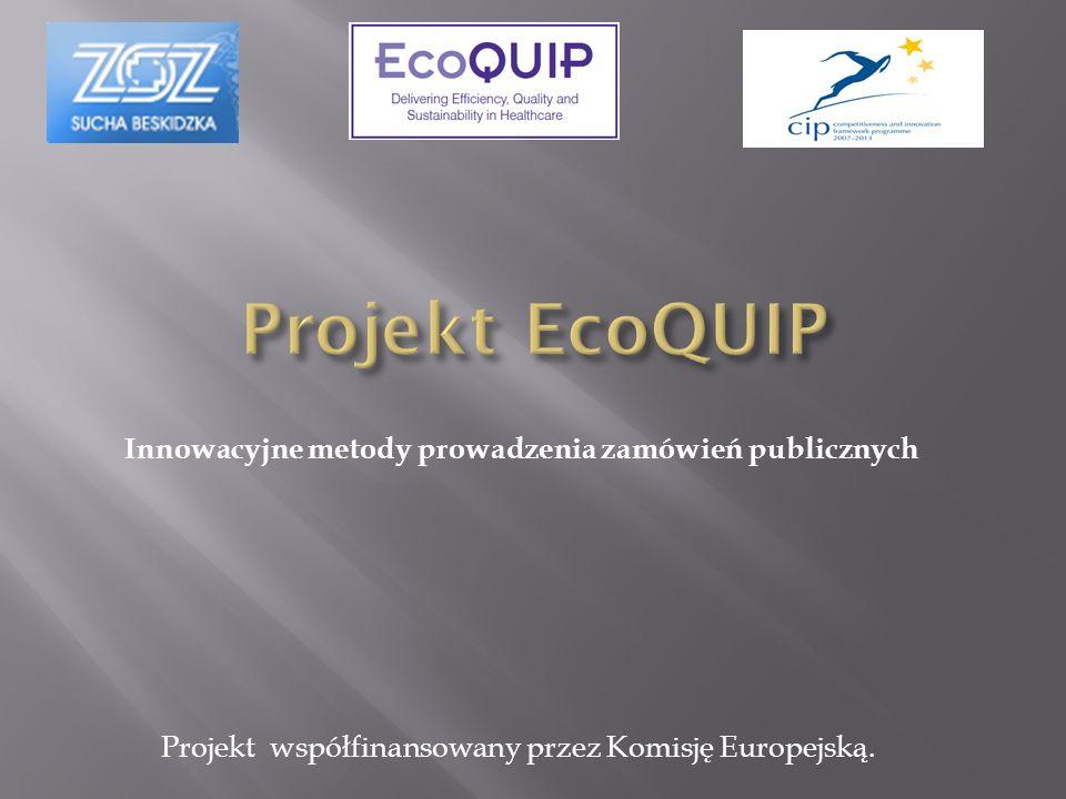Innowacyjne metody prowadzenia zamówień publicznych Projekt współfinansowany przez Komisję Europejską.