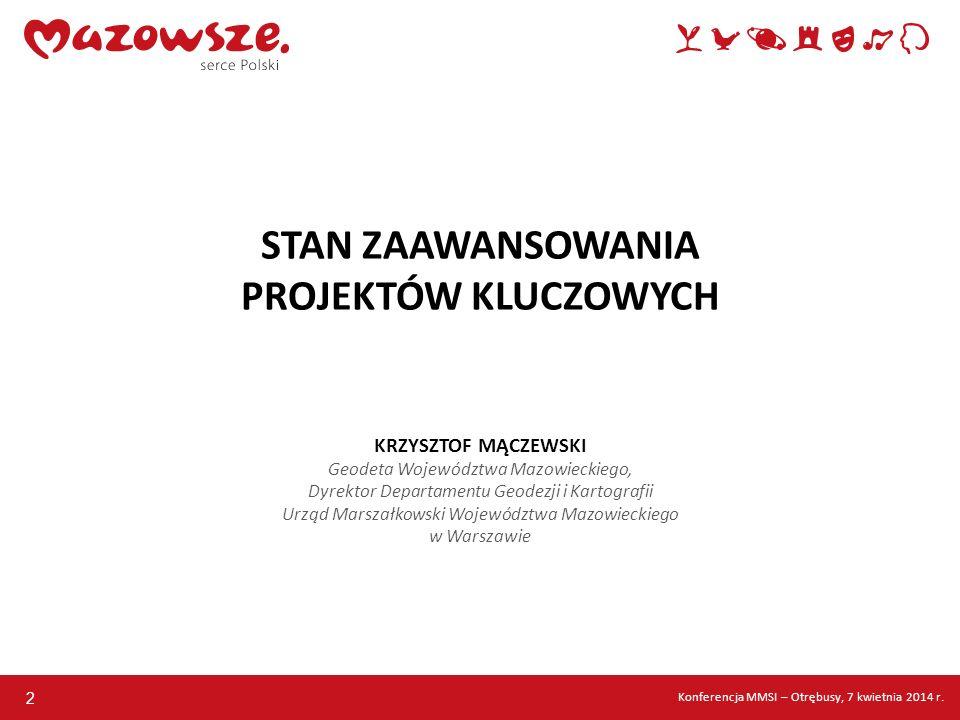 13 BAZA DANYCH OBIEKTÓW TOPOGRAFICZNYCH (BDOT) Konferencja MMSI – Otrębusy, 7 kwietnia 2014 r.
