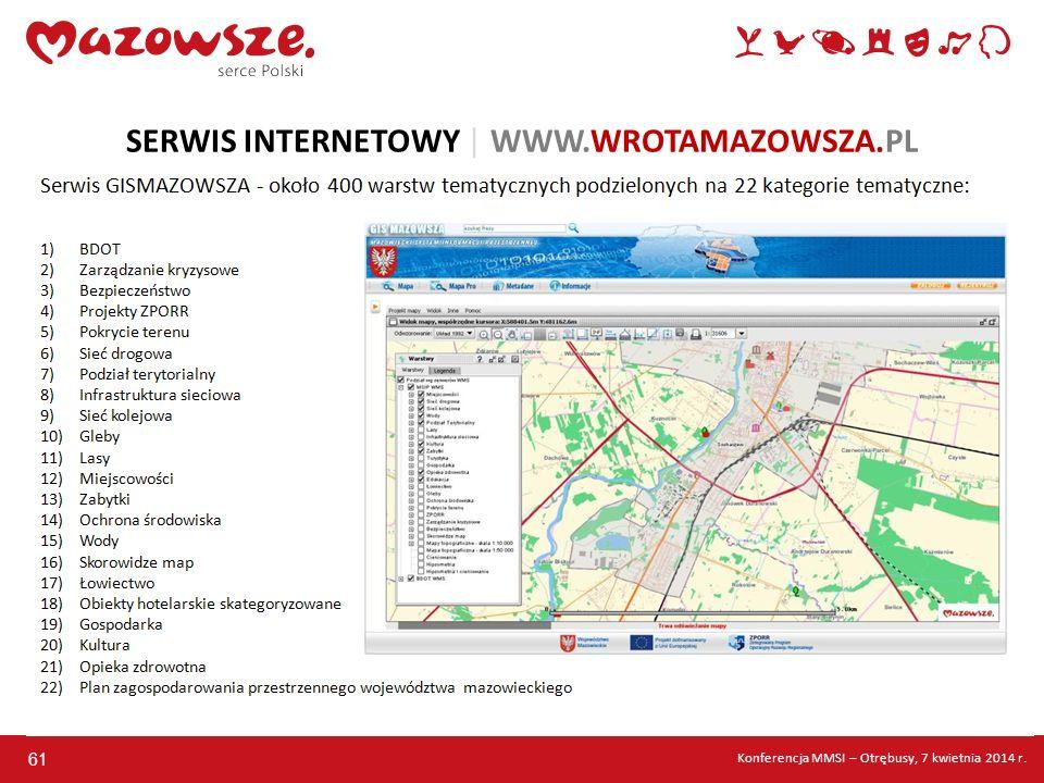 61 SERWIS INTERNETOWY | WWW.WROTAMAZOWSZA.PL Konferencja MMSI – Otrębusy, 7 kwietnia 2014 r.