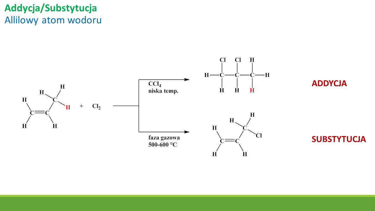 Addycja/Substytucja Allilowy atom wodoru ADDYCJA SUBSTYTUCJA