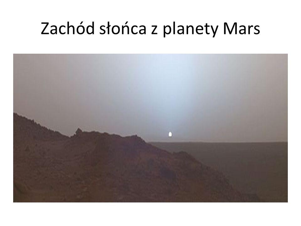 Zachód słońca z planety Mars