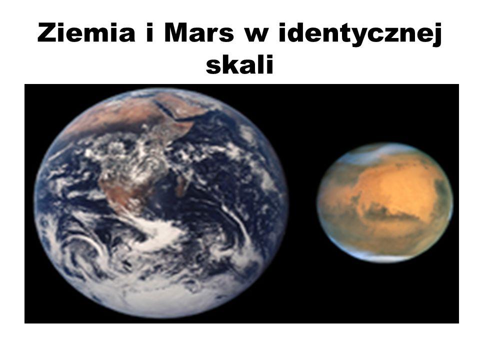 Ziemia i Mars w identycznej skali