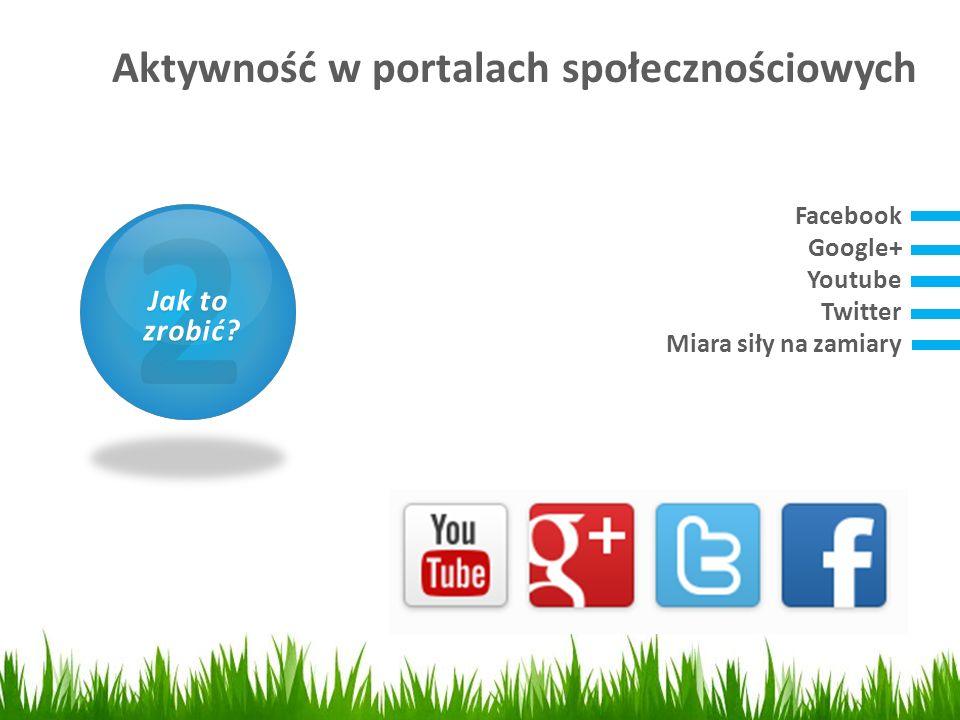 Aktywność w portalach społecznościowych 1 Czym jest SEO? Facebook Google+ Youtube Twitter Miara siły na zamiary 2 Jak to zrobić? zrobić?