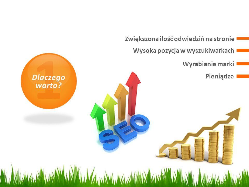 1 Dlaczego warto? Wysoka pozycja w wyszukiwarkach Zwiększona ilość odwiedziń na stronie Wyrabianie marki Pieniądze