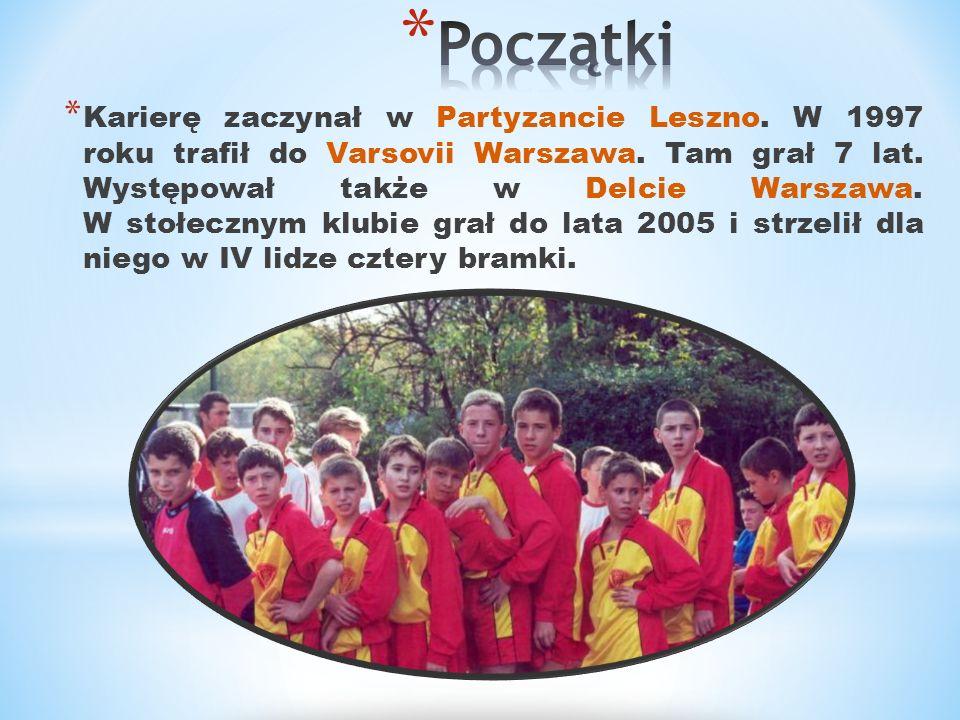 * Karierę zaczynał w Partyzancie Leszno. W 1997 roku trafił do Varsovii Warszawa. Tam grał 7 lat. Występował także w Delcie Warszawa. W stołecznym klu