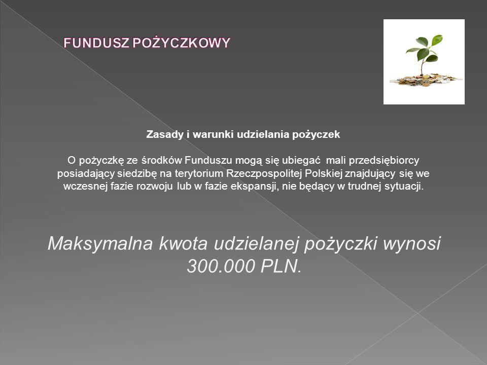 Zasady i warunki udzielania pożyczek O pożyczkę ze środków Funduszu mogą się ubiegać mali przedsiębiorcy posiadający siedzibę na terytorium Rzeczpospo