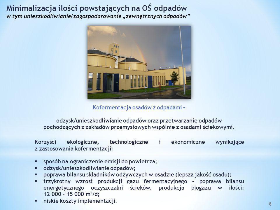 Korzyści ekologiczne: biogaz alternatywą dla nieodnawialnych źródeł energii; likwidacja niskowydajnych, awaryjnych kotłów koksowych; produkcja czystej energii z OZE.