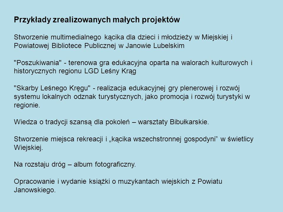 Przykłady zrealizowanych małych projektów Stworzenie multimedialnego kącika dla dzieci i młodzieży w Miejskiej i Powiatowej Bibliotece Publicznej w Ja