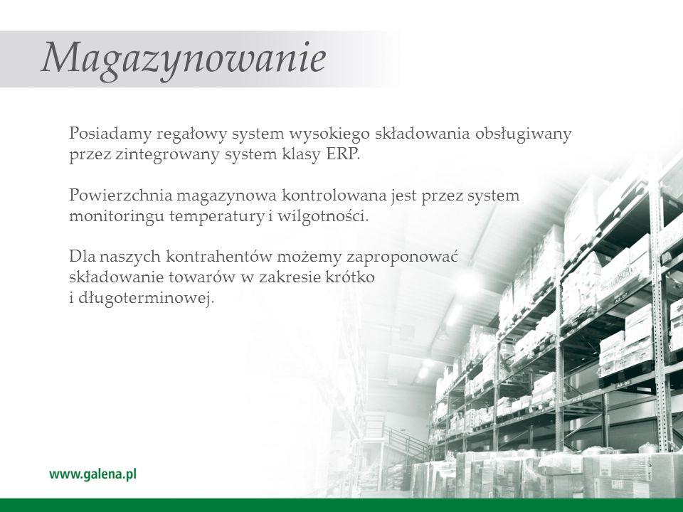 Transport Posiadamy wyspecjalizowaną flotę samochodową spełniającą wymagania i standardy przemysłu farmaceutycznego.
