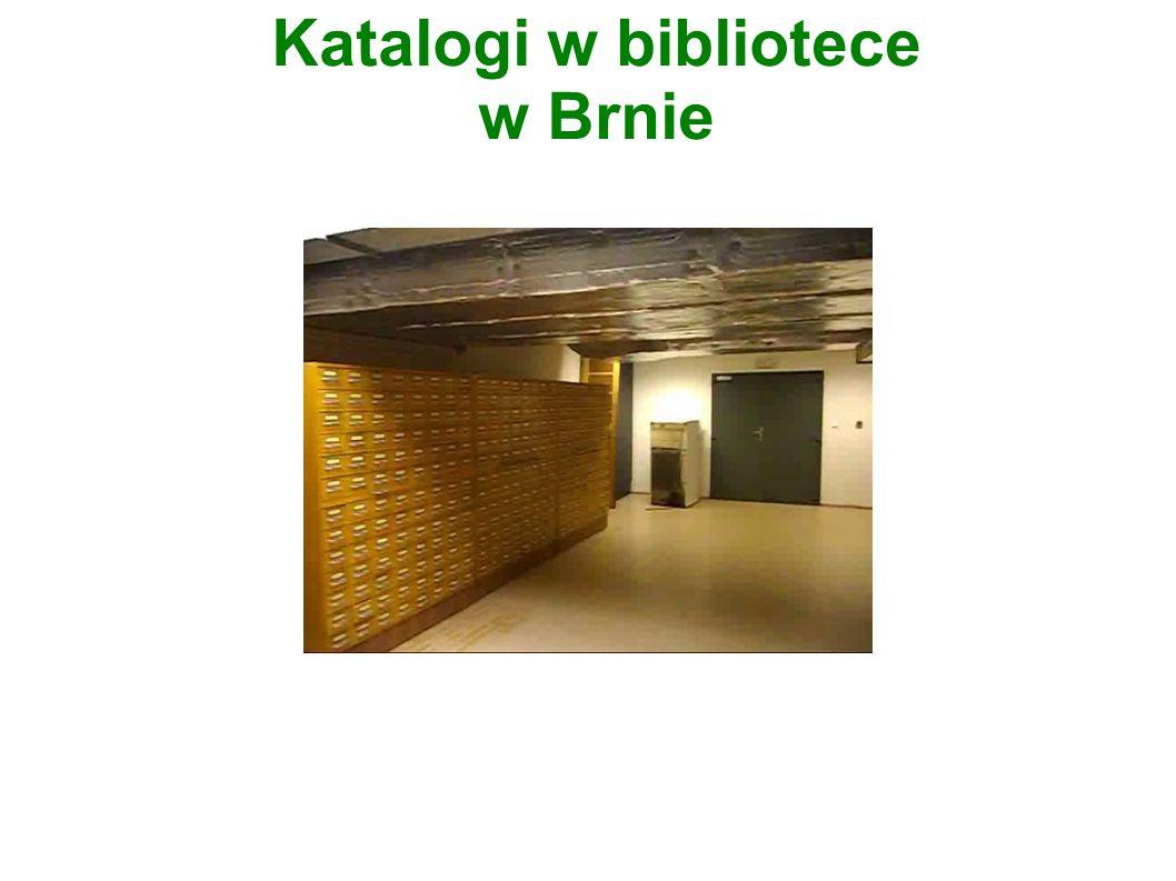 Katalogi w bibliotece w Brnie
