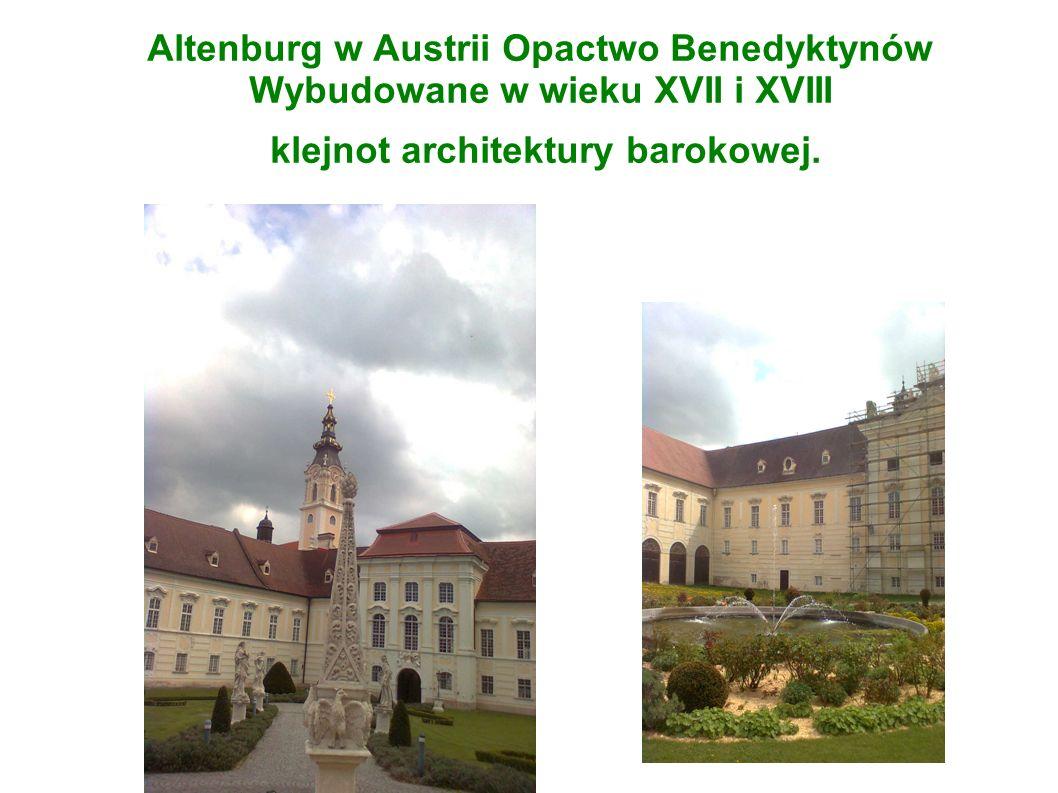 Altenburg w Austrii Opactwo Benedyktynów Wybudowane w wieku XVII i XVIII klejnot architektury barokowej.