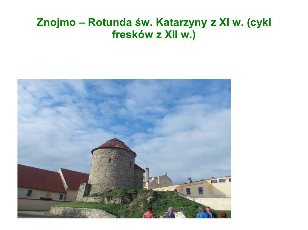 Znojmo – Rotunda św. Katarzyny z XI w. (cykl fresków z XII w.)