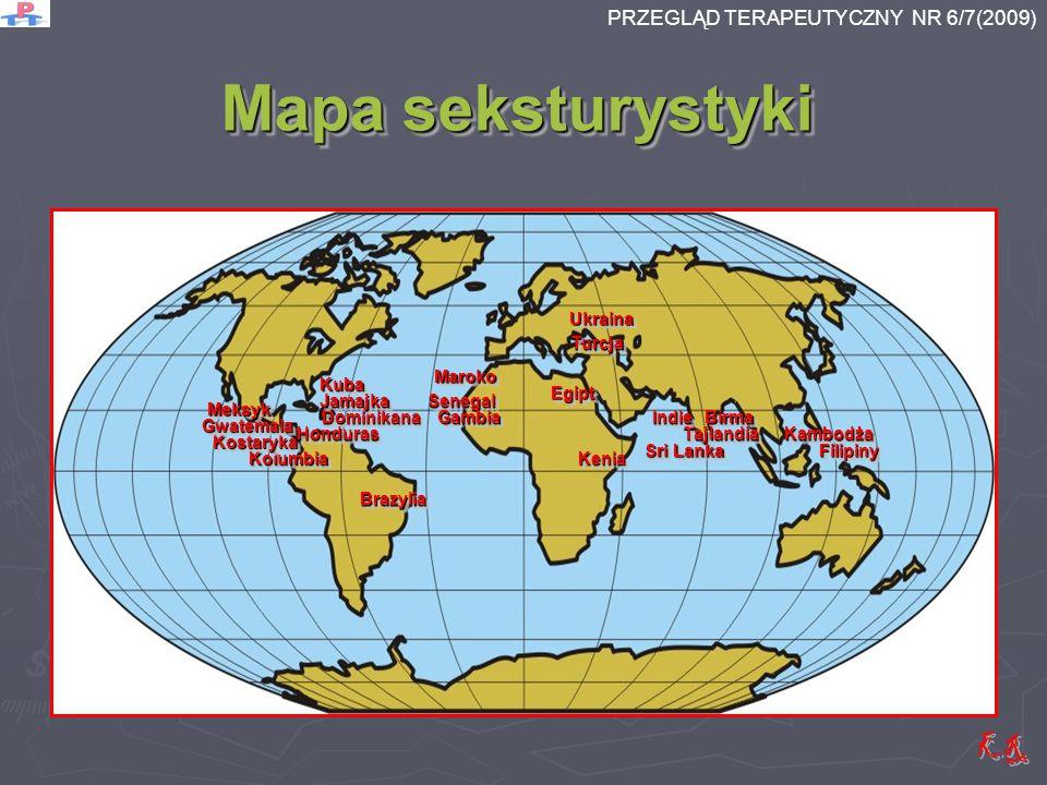 Mapa seksturystyki KeniaKeniaKolumbiaKolumbia DominikanaDominikanaBirmaBirma TajlandiaTajlandia UkrainaUkraina TurcjaTurcja IndieIndie KambodżaKambodż